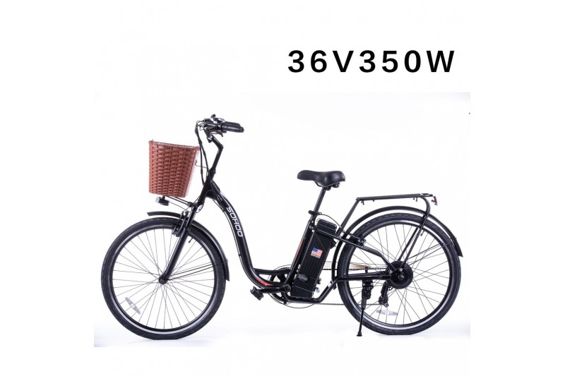 "SOHOO 36V350W10AH 26"" Electric City (Black)"