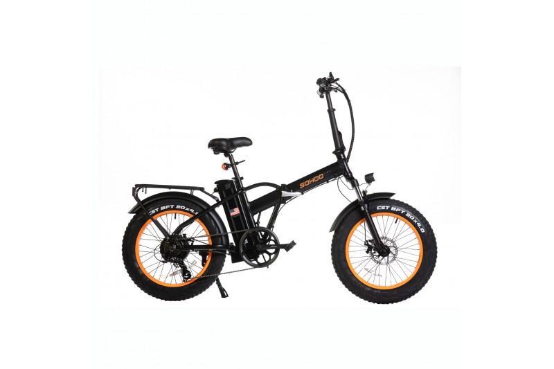 "SOHOO 48V500W12AH EBike 20"" Folding Fat Tire Electric Bicycle"