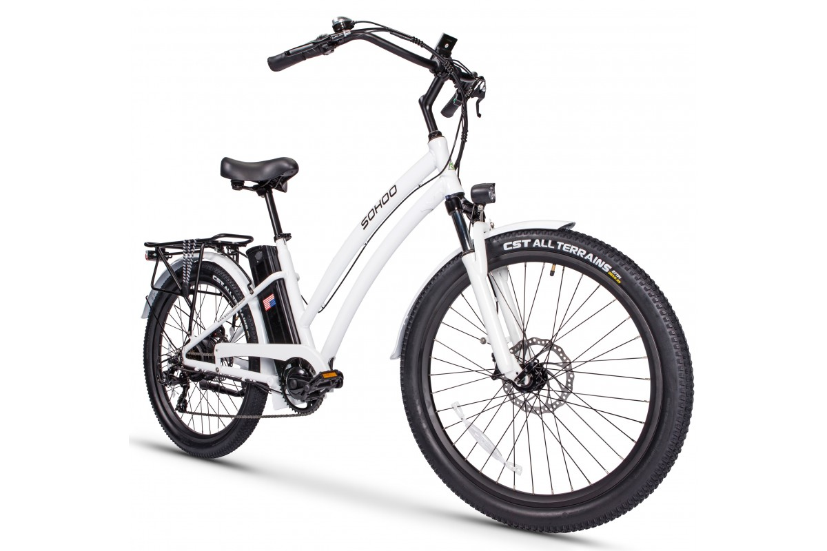 "48V500W12.5Ah 26"" Beach Cruiser Electric Bicycle"