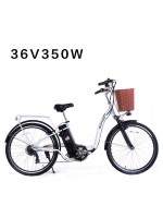 "SOHOO 36V350W10AH 26"" Electric Bicycle (WHITE)"